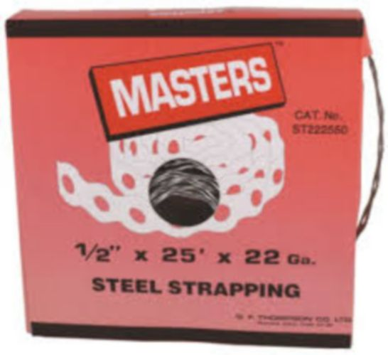 MASTERS Strapping, Nylon Coated 22 Gauge, 25-ft x 1/2-in Product image