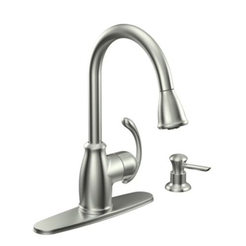 Moen Terrace Stainless Steel Kitchen Faucet Product image