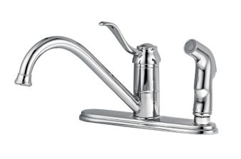 Peerless Kitchen Faucet with Side Spray, Chrome