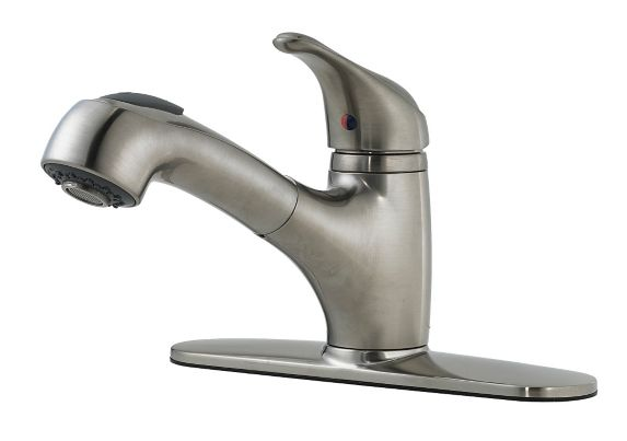 Peerless Shaw Pull Out Kitchen Faucet, Brushed Nickel Product image