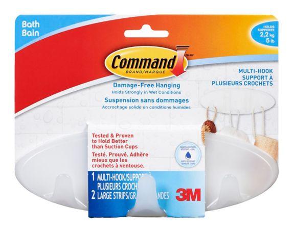 Crochets multiples pour le bain 3M Command Image de l'article