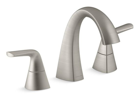 Kohler Elmbrook 2-Handle Widespread Lavatory Faucet, Brushed Nickel Product image