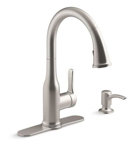 Kohler Cruce 1-Handle Pull-Down Kitchen Faucet, Stainless Steel Product image
