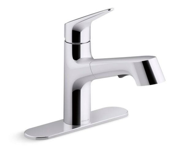 Kohler Vin 1-Handle Pull-Out Kitchen Faucet, Chrome Product image