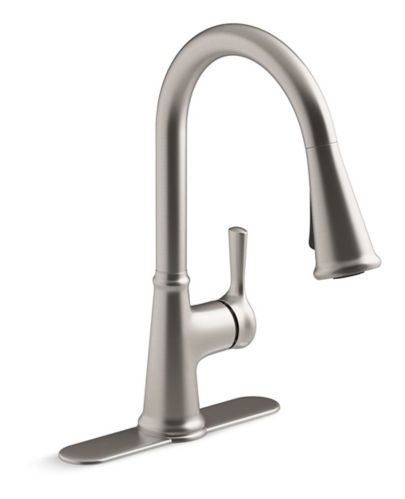 Kohler Tyne 1-Handle Pull-Down Kitchen Faucet, Stainless Steel
