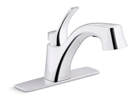 Kohler Cruce 1-Handle Pull-Out Kitchen Faucet, Chrome