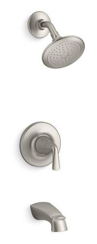 Robinet de bain et douche Kohler Elmbrook, 1 levier, nickel brossé Image de l'article