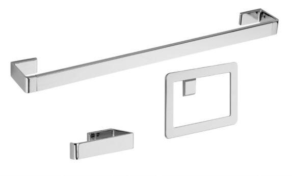 Pfister Modern Bathroom Accessories Kit, Chrome, 3-pc Product image