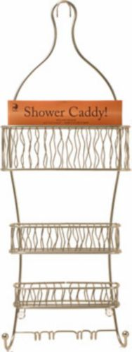 Squiggle Shower Caddy, Satin Nickel, 25-in Product image