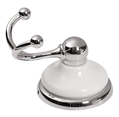 Astina Collection White Chrome Finish Robe Hook Product image