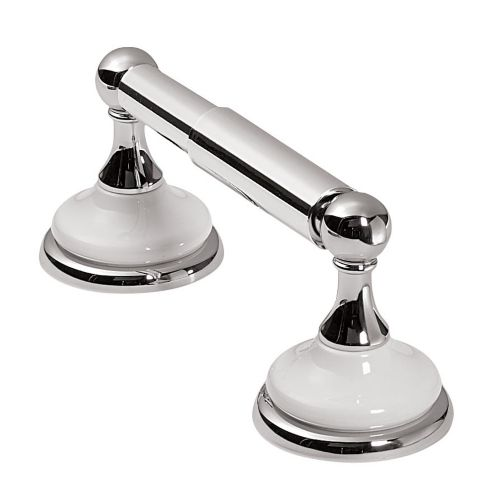 Astina Collection White Chrome Finish Toilet Paper Holder Product image