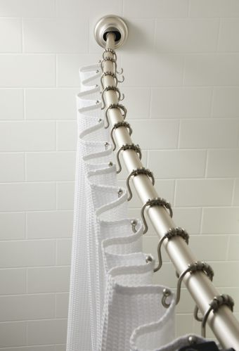 Curved Aluminum Dual Mount Shower Rod, 72-in Product image