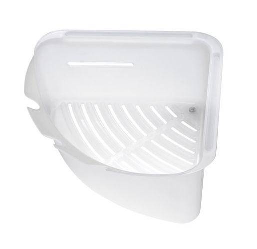 Umbra Mesa Large Corner Bin, White Product image