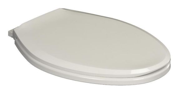 For Living Plastic Elongated Toilet Seat with Slow Close, White Product image