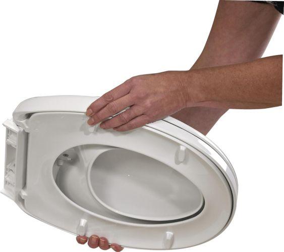 Siège de toilette allongé avec fermeture en douceur Delta pour famille Image de l'article