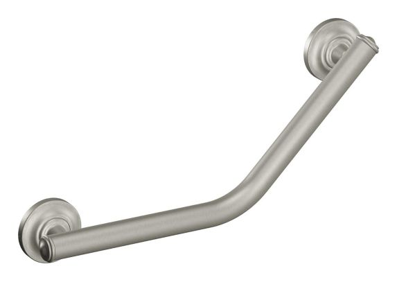 Moen Home Care Angled Grab Bar, Brushed Nickel, 16-in Product image