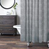Rideau de douche CANVAS, tissu à motif imprimé, lin   CANVASnull