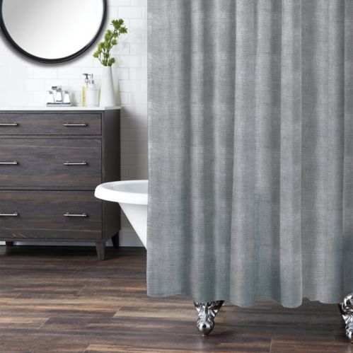 CANVAS Fabric Shower Curtain, Linen Print Product image