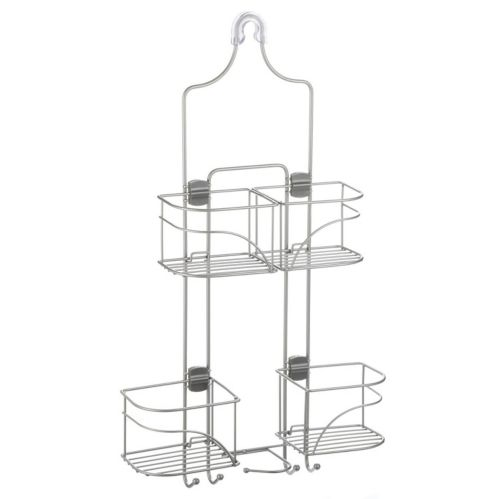 For Living Expanding Shower Caddy, Satin Nickel Product image