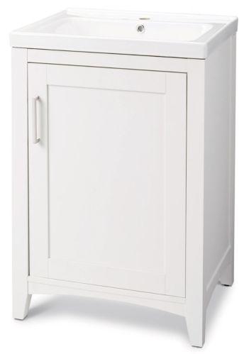 CANVAS Creston Single Door Vanity, White, 24-in Product image