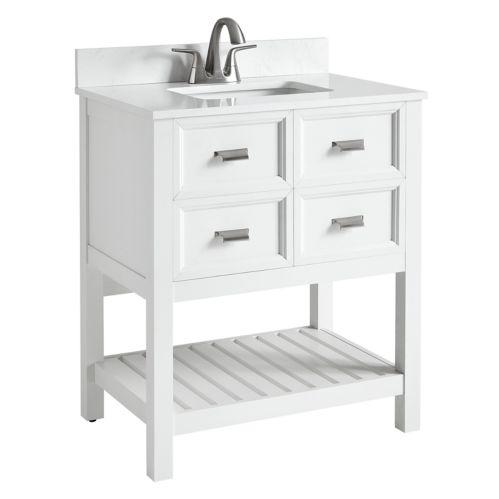 CANVAS Gibsons 2-Door Bathroom Vanity, White, 30-in Product image