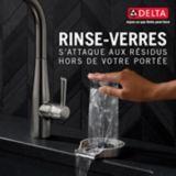 Delta Glass Rinser, Stainless Steel | Deltanull