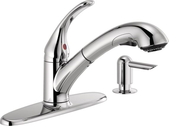 Delta Principals 1-Handle Pull-Out Kitchen Faucet Product image