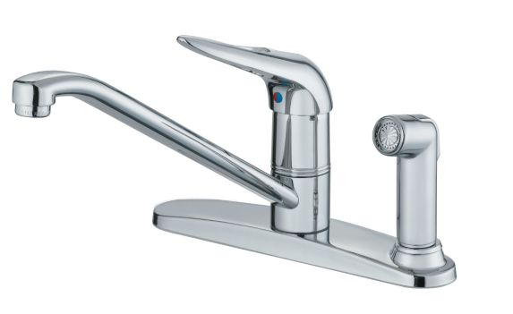 Danze Melrose Series 1-Handle Kitchen Faucet with Spray, 8-in Product image
