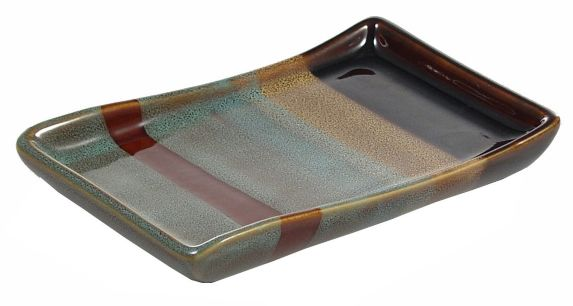 Striped Ceramic Soap Dish Product image