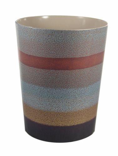 Poubelle rayée en céramique