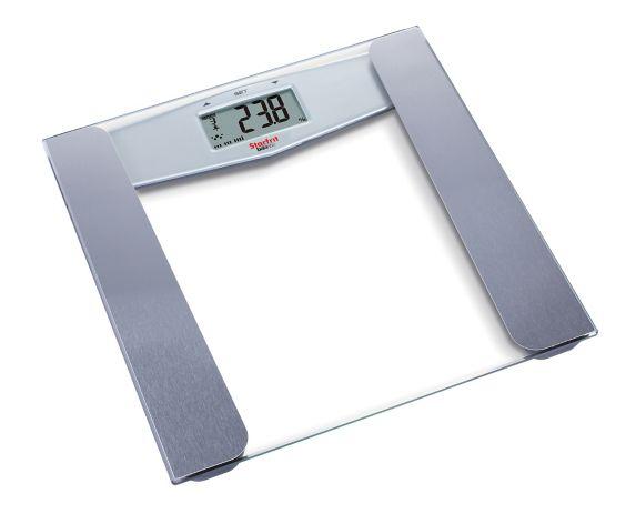 Pèse-personne en verre Starfrit, lecture du taux d'adiposité Image de l'article