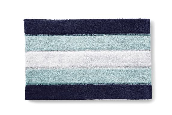 Cleanse Stripe Bath Mat, Light Grey Product image