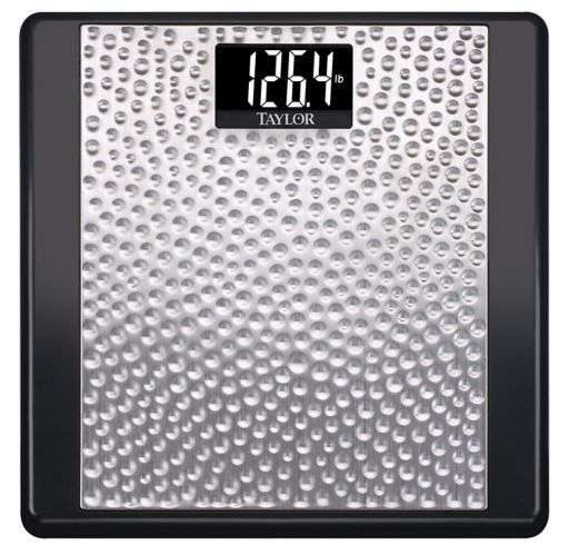 Digital Bathroom Scale, Hammered Stainless Steel Product image