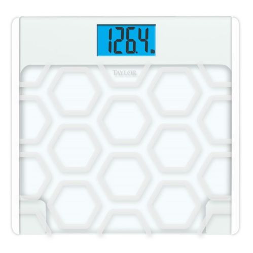 Taylor Digital Glass Bathroom Scale, Frosted White Product image