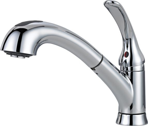 Delta Casey 1-Handle Pull-Out Kitchen Faucet, Chrome Product image