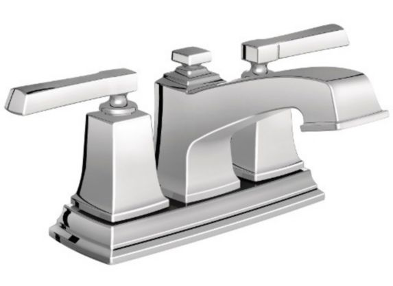 Robinet de lavabo central Moen Boardwalk, 2 leviers, chrome