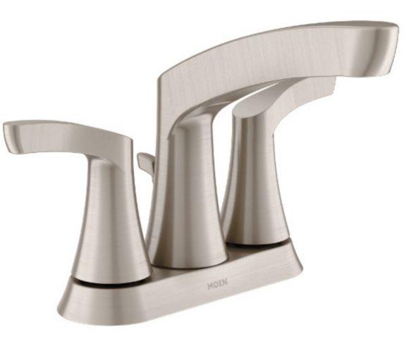 Robinet de lavabo Moen Danika, 2 leviers, nickel brossé Image de l'article