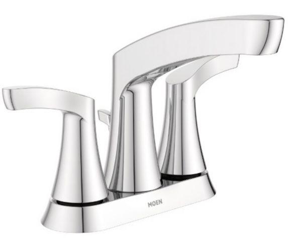Robinet de lavabo Moen Danika, 2 leviers, chromé Image de l'article