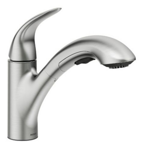 Moen Medina 1-Handle Pull-Out Kitchen Faucet, Brushed Nickel Product image
