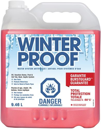 Antigel pour système d'eau WinterProof -50°C, 9,46 L