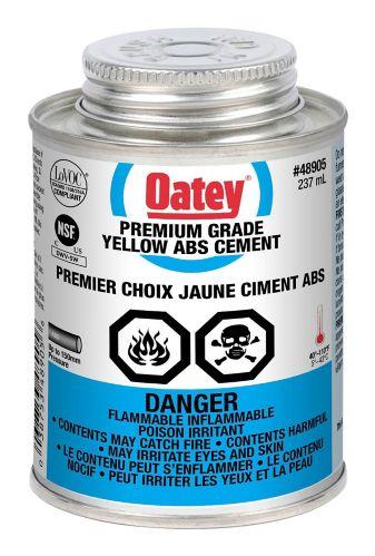 Ciment Oatey pour ABS de qualité supérieure, jaune, 237 mL Image de l'article