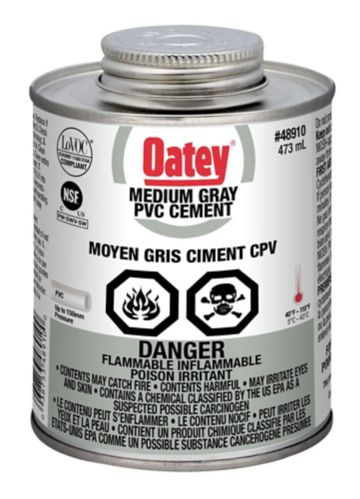 Oatey PVC Cement, Medium Grey, 473-mL Product image