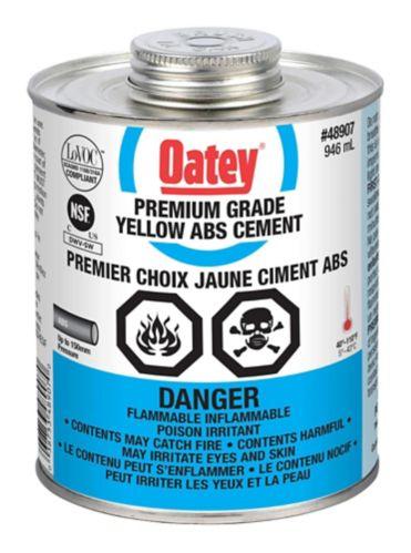 Ciment Oatey pour ABS de qualité supérieure, jaune, 946 mL Image de l'article