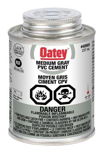 Oatey PVC Cement, Medium Grey, 237-mL Product image