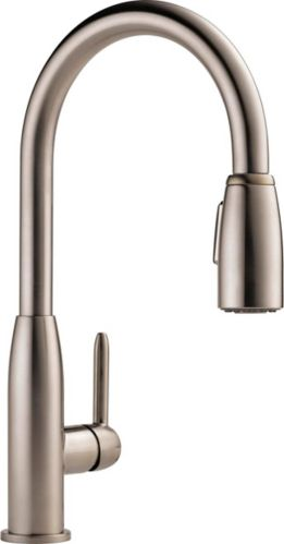Peerless Tunbridge 1-Handle Pull-Down Kitchen Faucet, Stainless Steel Product image