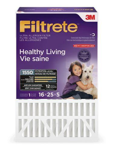 Filtre à plis profonds Filtrete 3M Vie Saine, MPR 1550, 16 x 25 x 5 po, paq. 1 Image de l'article