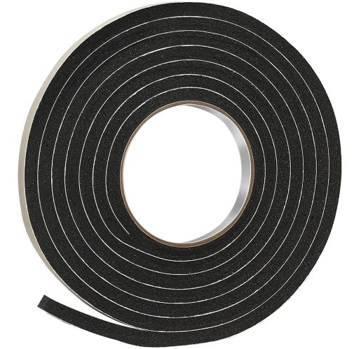 Frost King Rubber Foam Tape, Black, 3/8-in x 5/16-in x 10-ft Product image