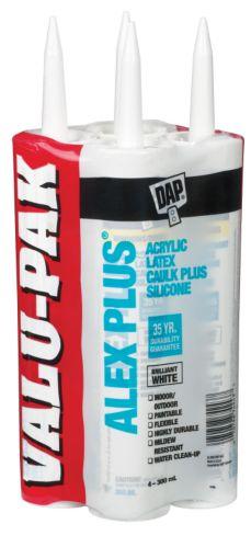 Alex Plus Acrylic Latex Caulking, 4-pk Product image