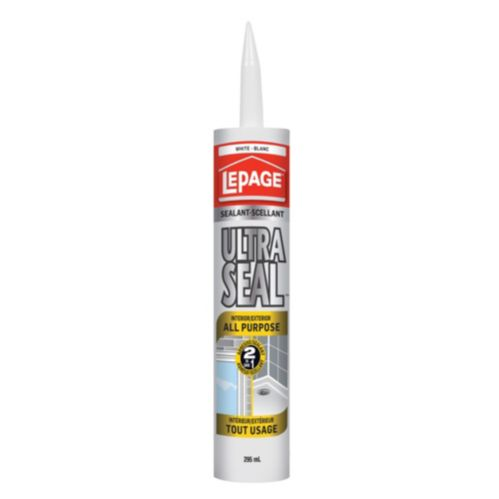 LePage Ultra Seal 2-in-1 All Purpose Sealant, White, 295-mL