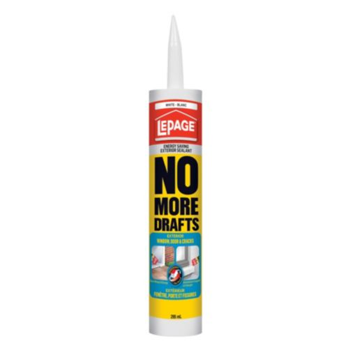 LePage No More Drafts Exterior Window and Door Sealant, 295 mL